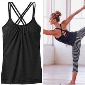 Athleta Tops - Athleta Yoga Top w/ Built In Bra Black S